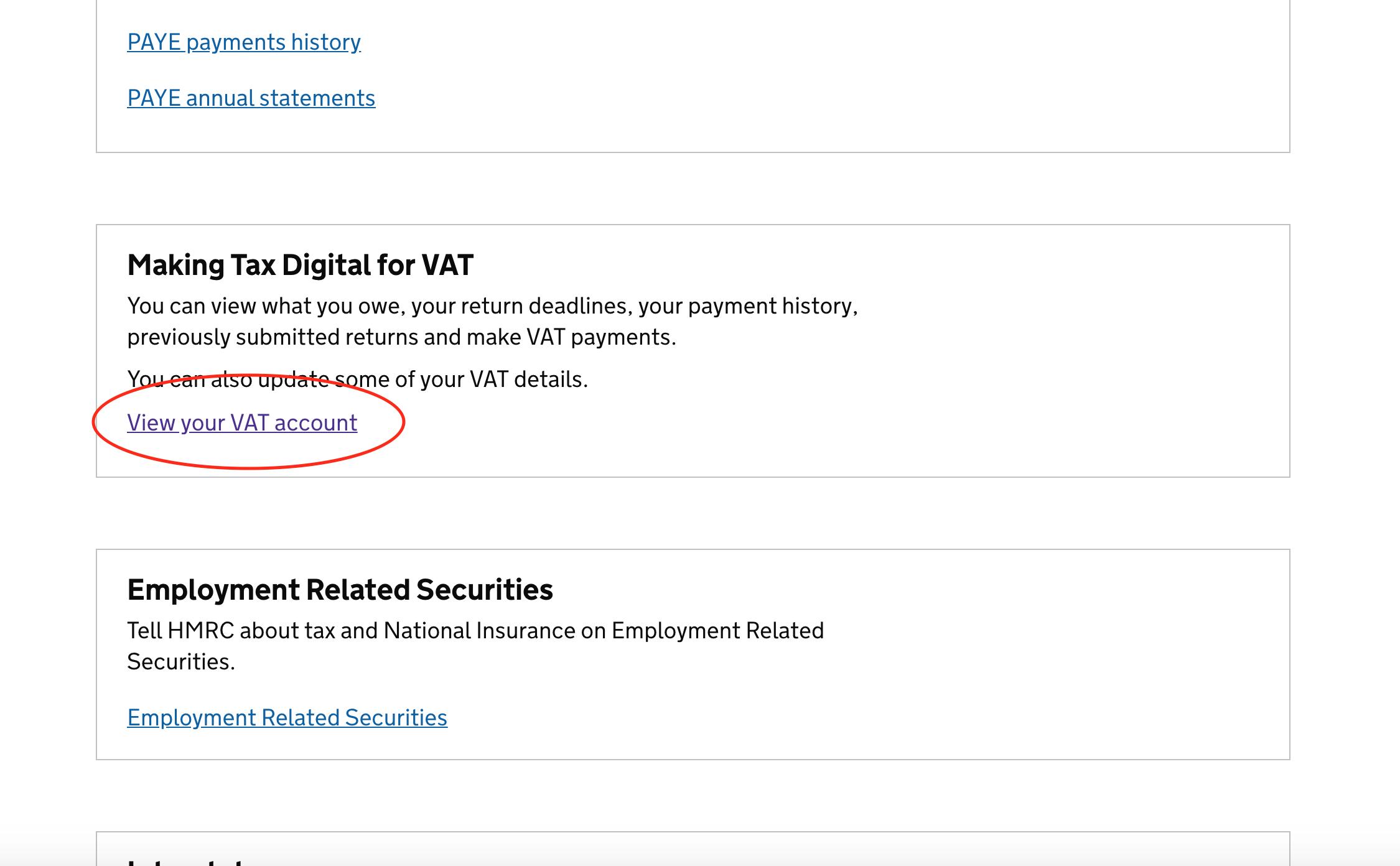 Making Tax Digital section